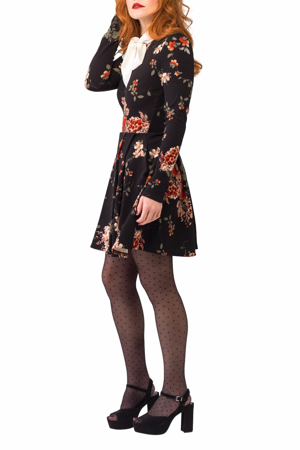 Smak Parlour Long-Sleeve Floral Dress - Front Full Image
