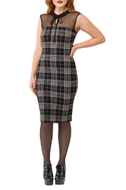 Smak Parlour Plaid Swiss Dot Dress - Product Mini Image