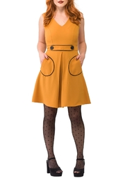 Smak Parlour Retro Box Pleat Dress - Product Mini Image