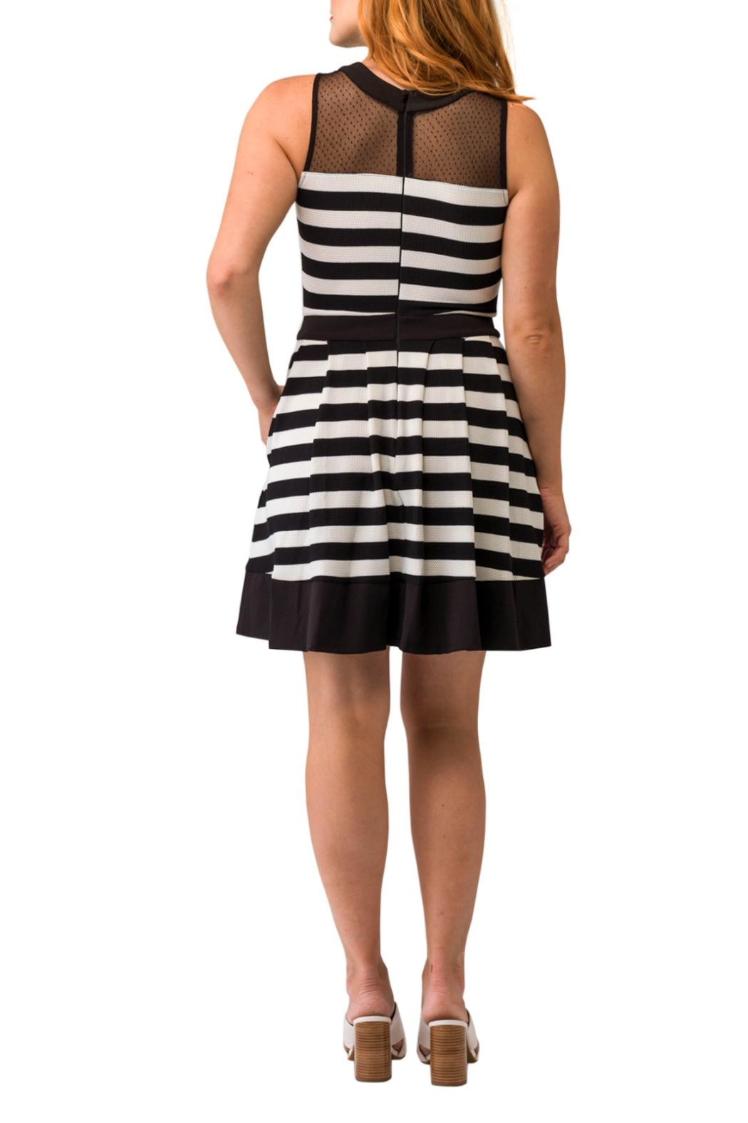 Smak Parlour Sleeveless Striped Dress - Back Cropped Image