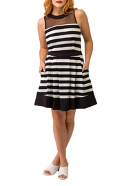 Smak Parlour Sleeveless Striped Dress - Front cropped