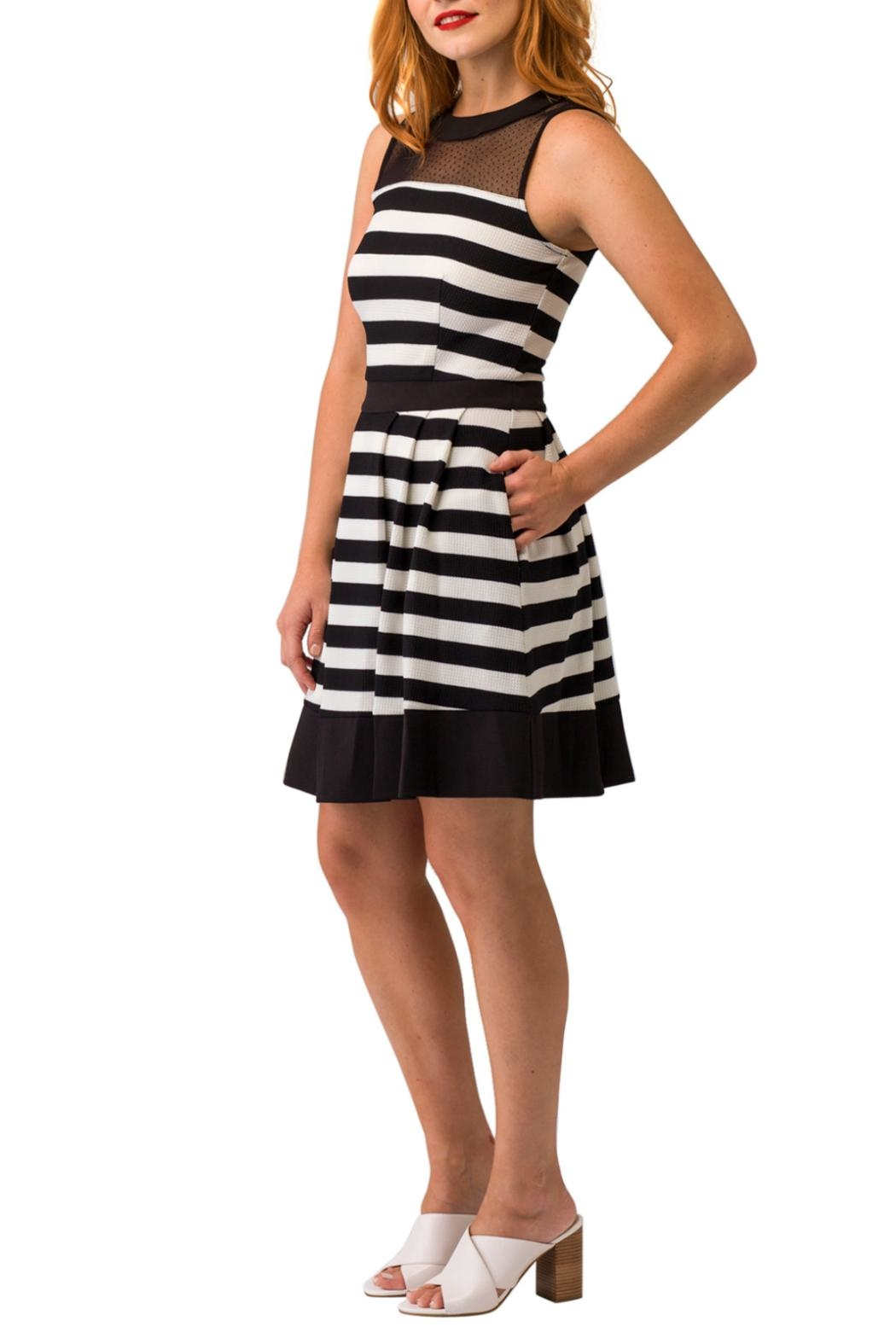 Smak Parlour Sleeveless Striped Dress - Front Full Image