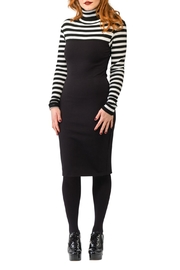Smak Parlour Stripe Ponte Dress - Product Mini Image