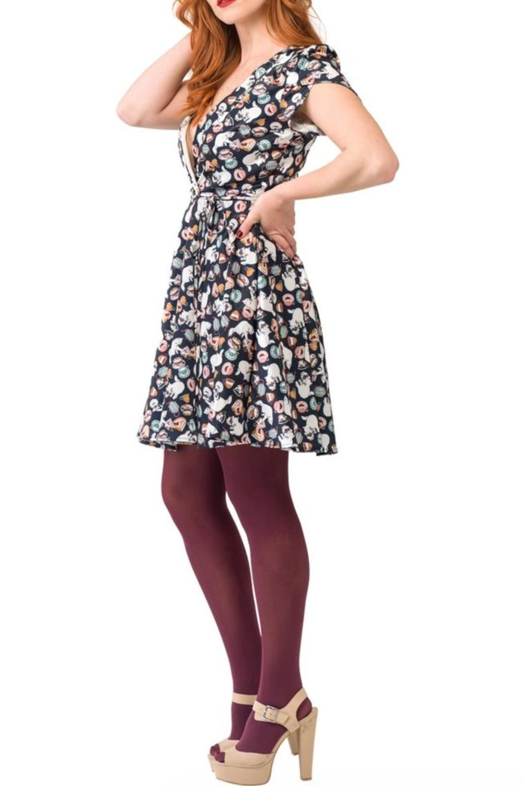 Smak Parlour Teatime Cats Dress - Side Cropped Image