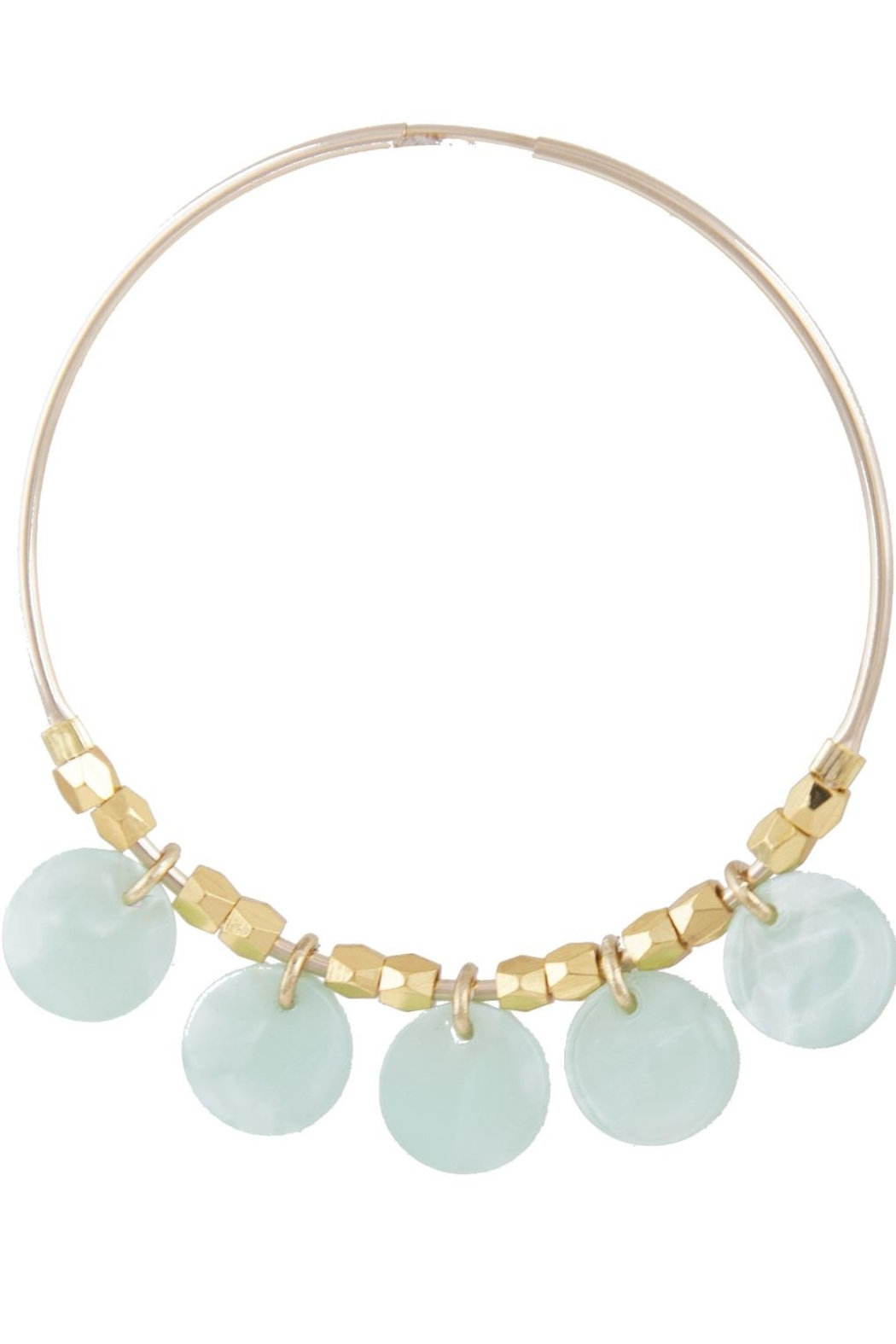 Lucky Star Jewels Small Bahama Hoops - Front Cropped Image