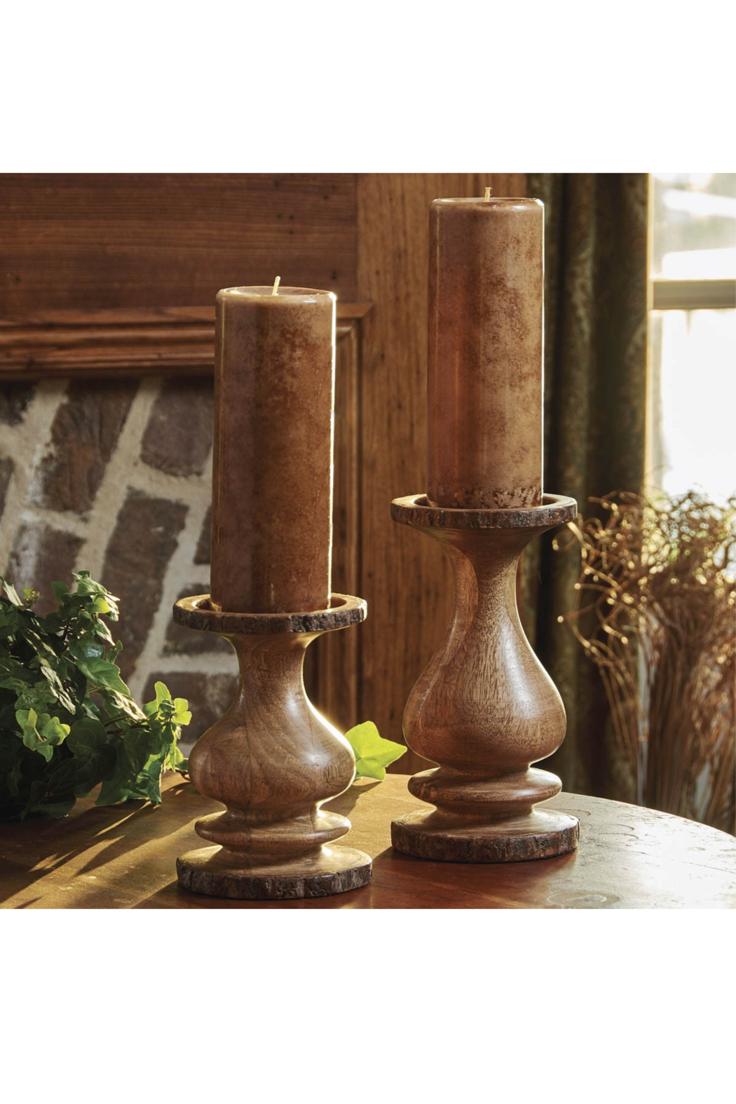 Park Designs Small Bark Edge Candle Holder - Front Full Image