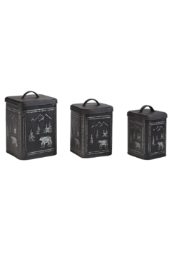 Shoptiques Product: Small Black Bear Cannister