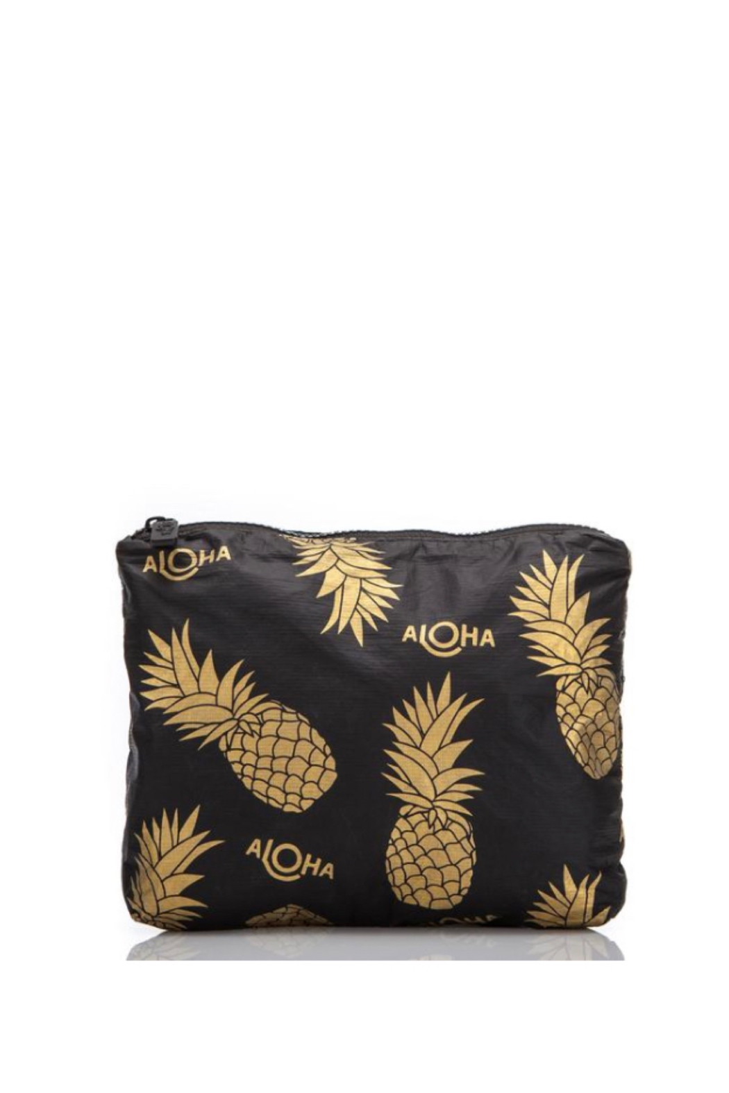 Aloha Collection Small Black Pineapple Fields Pouch - Main Image