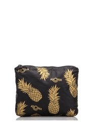 Aloha Collection Small Black Pineapple Fields Pouch - Product Mini Image