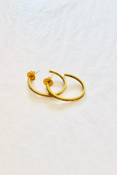The Woods Fine Jewelry  Small Brass Hoops - Alternate List Image