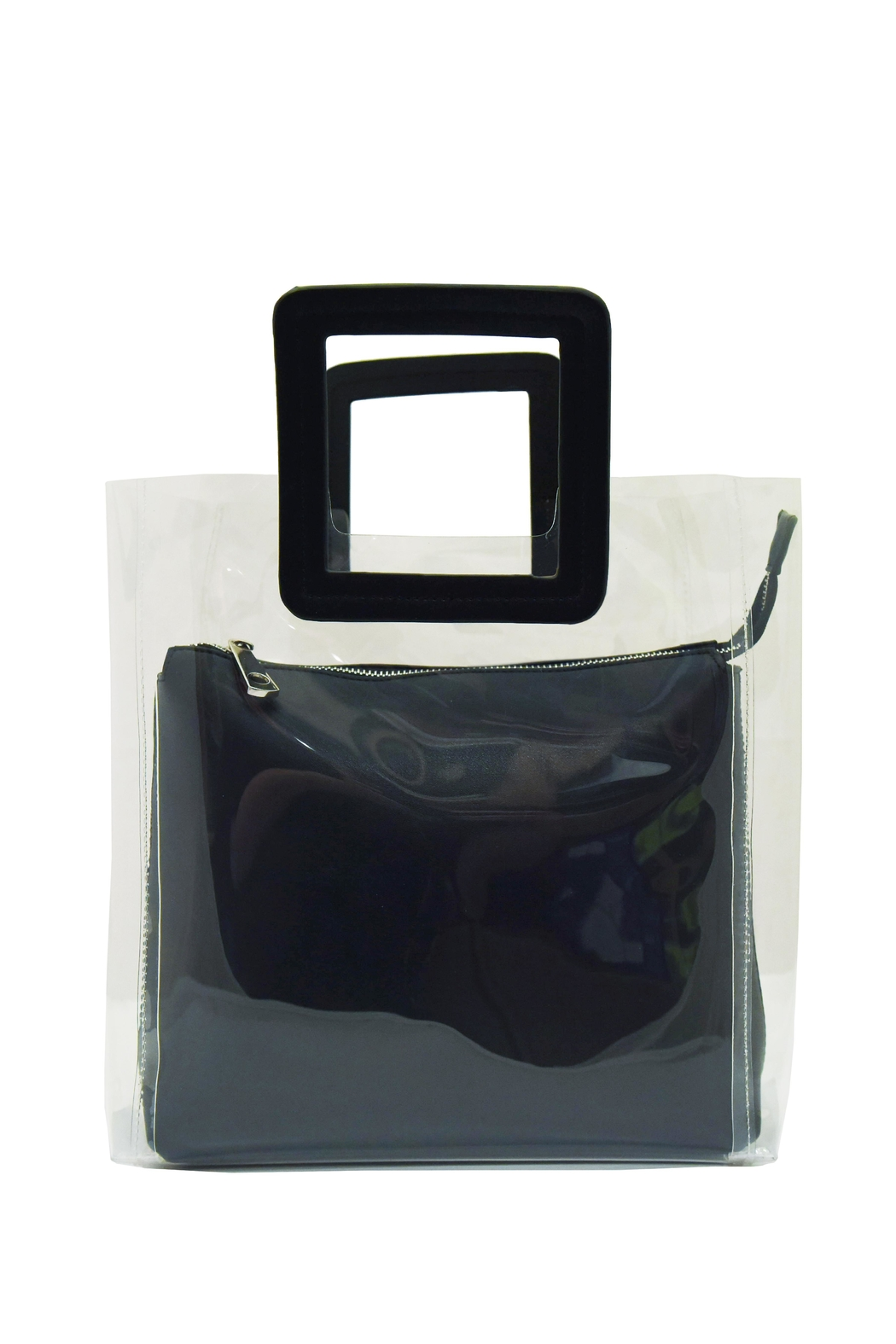 INZI Small Clear Tote - Front Cropped Image