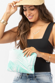Aloha Collection Small Day Palms Pouch - Front cropped