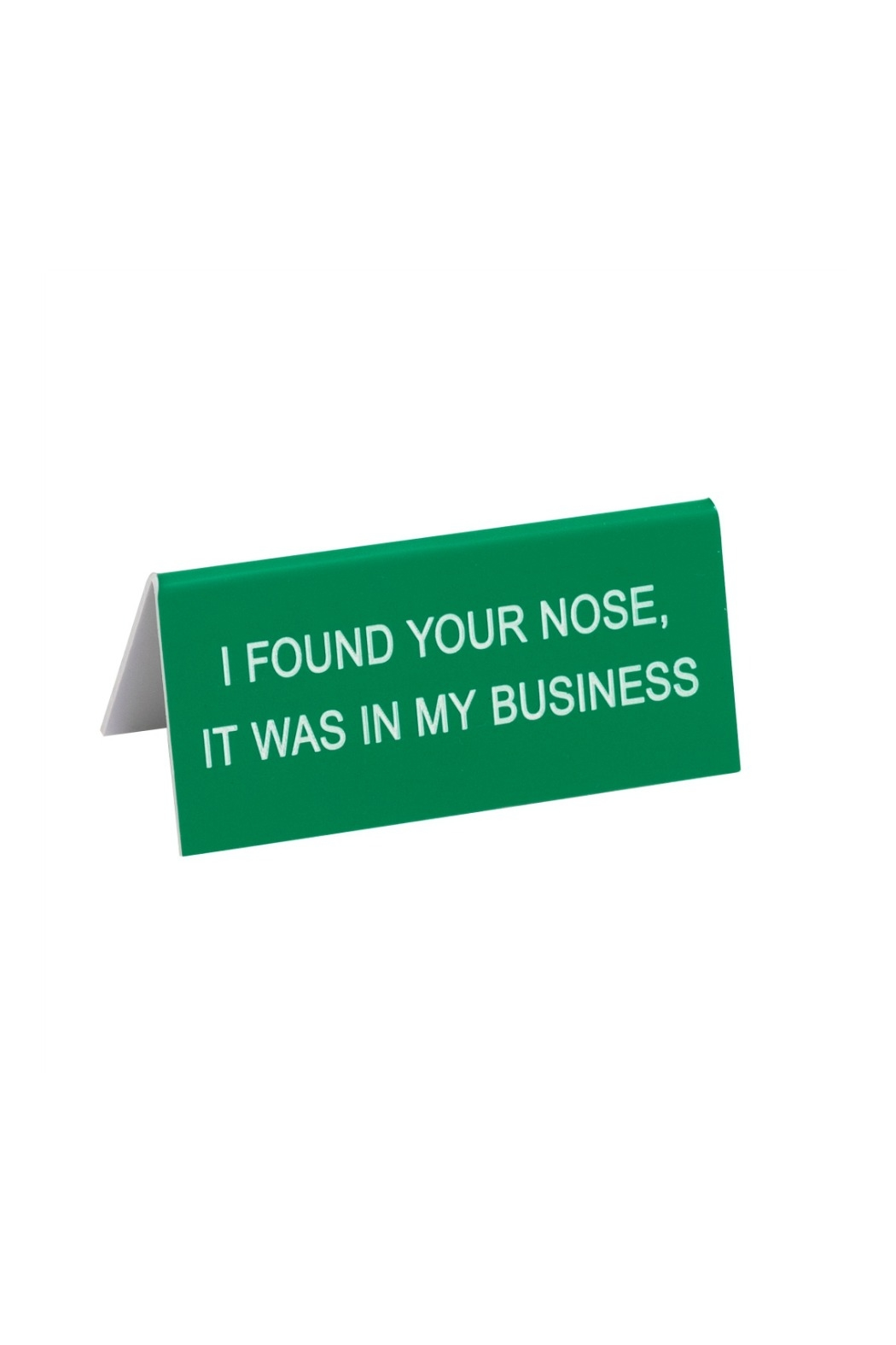 About Face Designs Small Desk Sign - Front Cropped Image