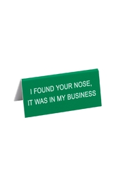 About Face Designs Small Desk Sign - Product Mini Image