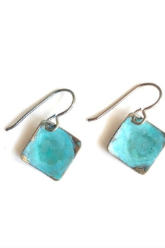 SSD Small Domed Square Earrings - Alternate List Image