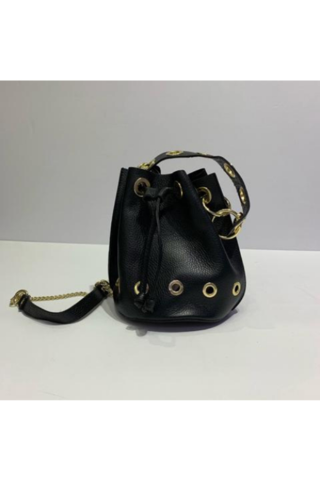 DiJore Small Draw Cinch Italian Leather Bag - Front Cropped Image