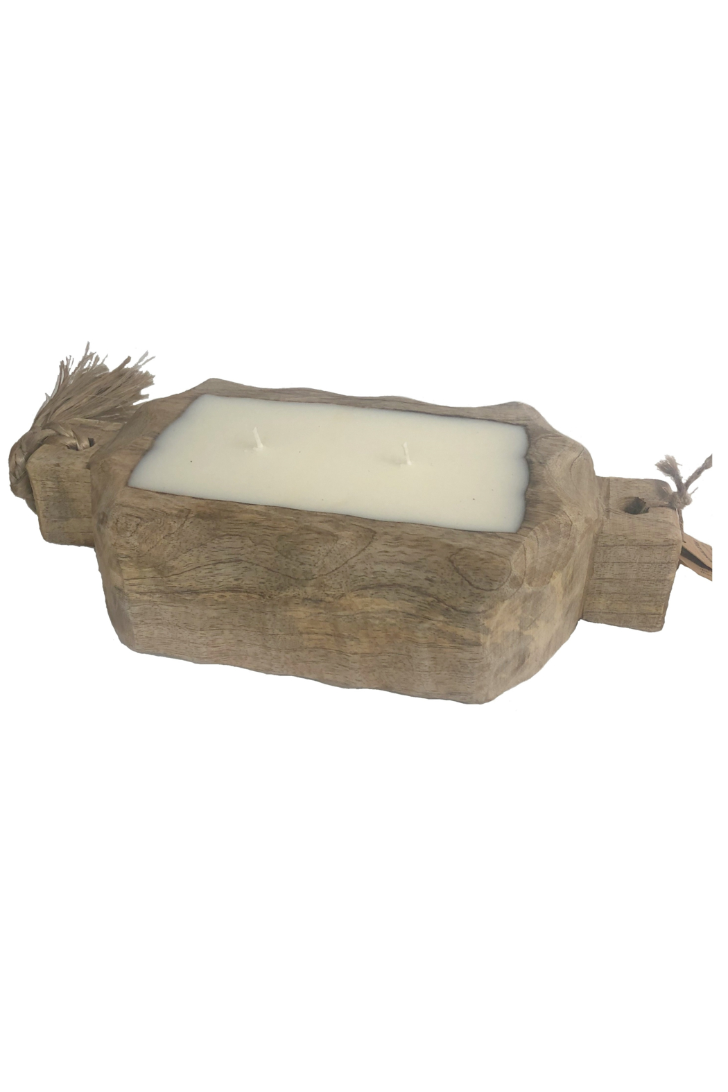 Himalayan Trading Post Small Driftwood Tray- GRAPEFRUIT PINE - Front Cropped Image