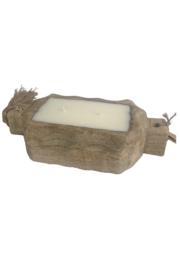 Himalayan Trading Post Small Driftwood Tray- GRAPEFRUIT PINE - Front cropped
