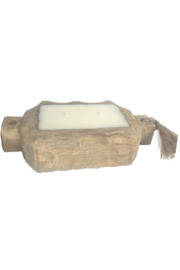Himalayan Trading Post Small Driftwood Tray- GRAPEFRUIT PINE - Front full body