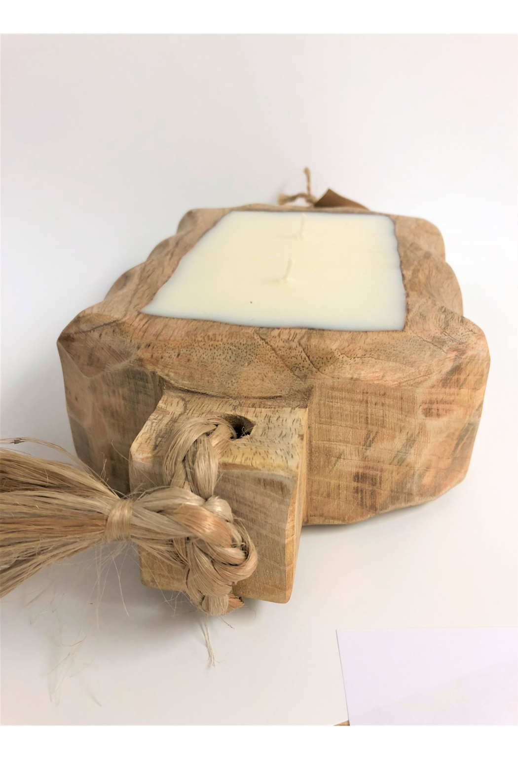 Himalayan Trading Post Small Driftwood Tray- GRAPEFRUIT PINE - Side Cropped Image