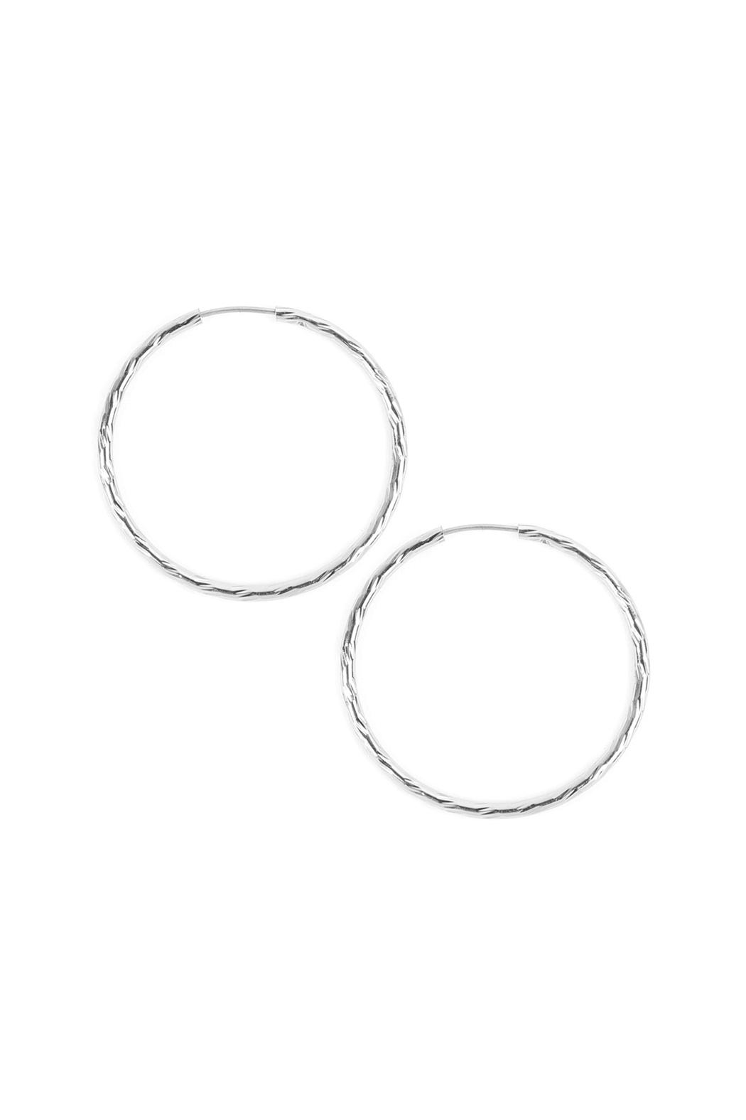 Riah Fashion Small Hoop Earrings - Front Cropped Image