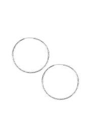 Riah Fashion Small Hoop Earrings - Front cropped