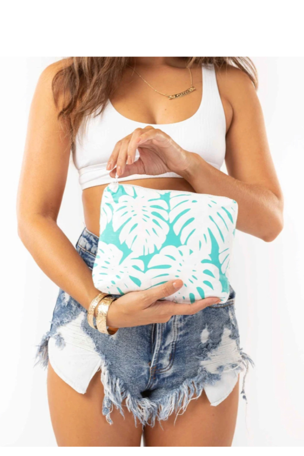 Aloha Collection Small Manoa Pouch - Front Full Image