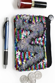 Funky Monkey  Small Mermaid Sequin Pouch - Product Mini Image
