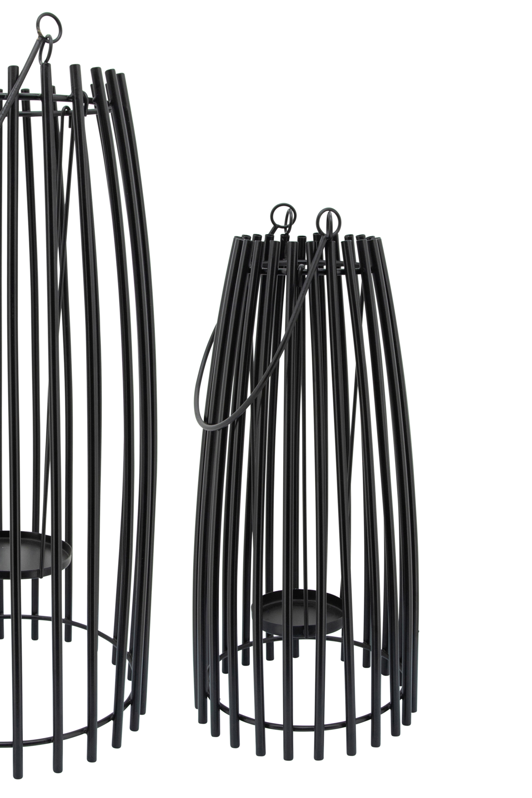 Sagebrook Home SMALL METAL CAGE LANTERN - Side Cropped Image