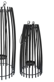 Sagebrook Home SMALL METAL CAGE LANTERN - Side cropped