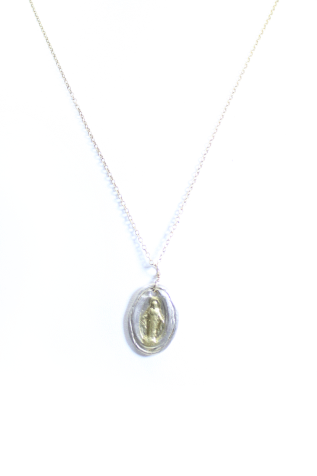 The Birds Nest SMALL MIRACULOUS MEDAL NECKLACE - 8.5 INCH CHAIN - Main Image