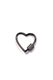 OMG Blings Small Outlined-Heart Charm - Product Mini Image