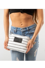 Aloha Collection Small Pinstripe Pouch - Back cropped