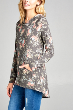 E Luna Small Print Floral Hoodie - Alternate List Image