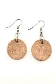 Forest Life Creations Small Round Oak Fishhook Earrings - Product Mini Image