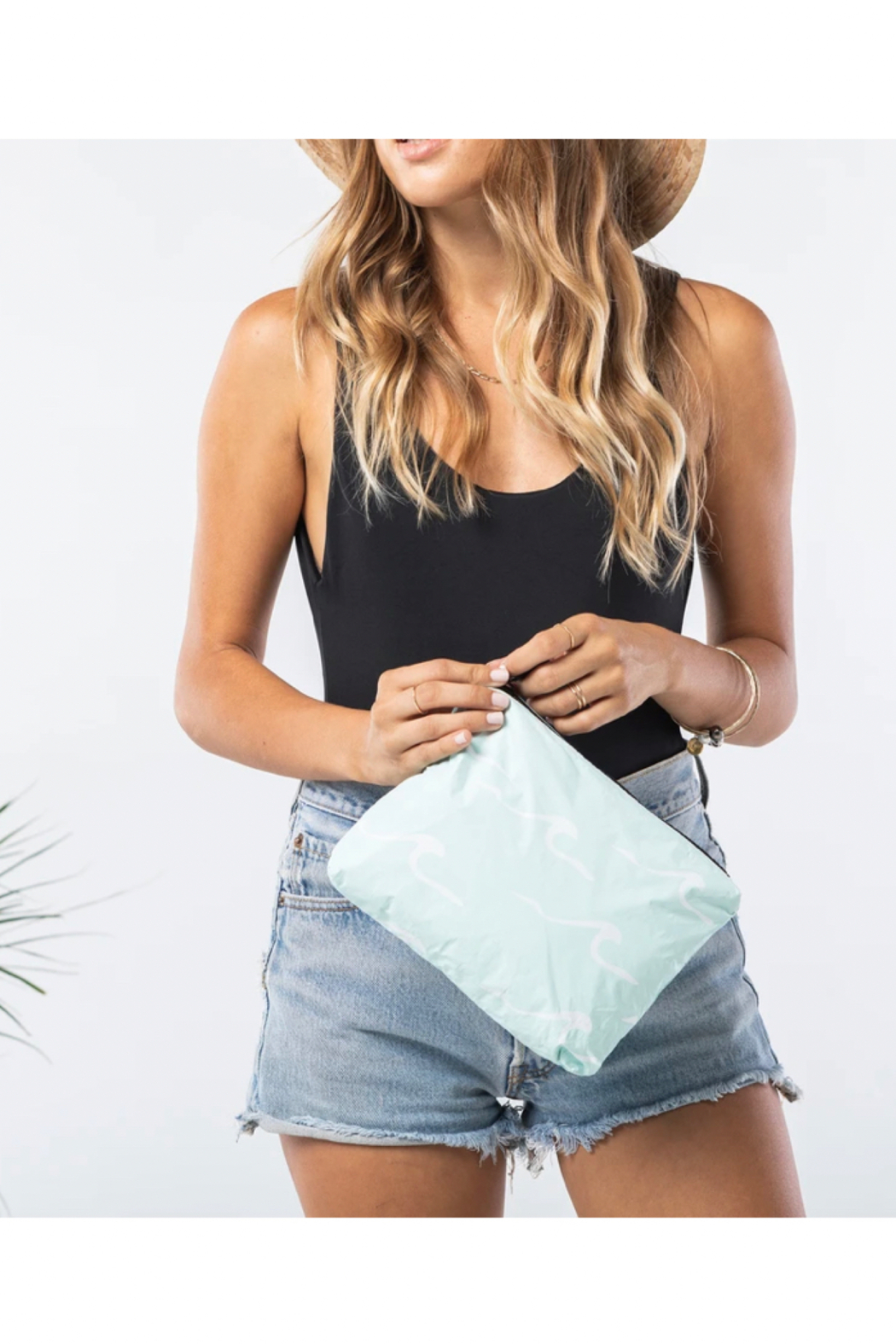 Aloha Collection Small Seaside Pouch in LeMU Blue - Front Full Image