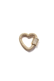 OMG Blings Small Sparking-Heart Charm - Product Mini Image