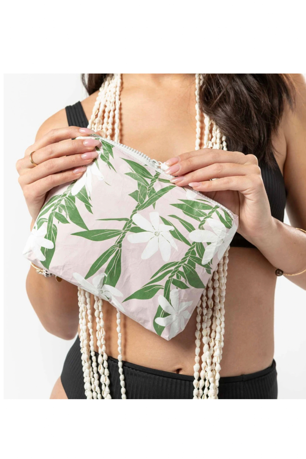 Aloha Collection Small Tiare Ti Pouch - Front Full Image