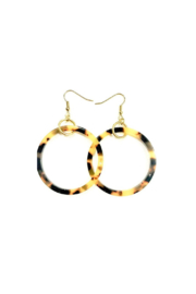 Deux Amies Small Tortoise Hoops - Product Mini Image
