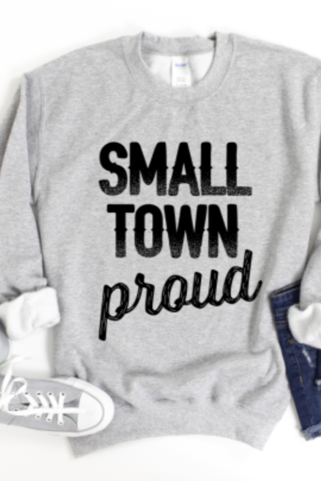 Lyn-Maree's  Small Town Proud Crewneck - Main Image