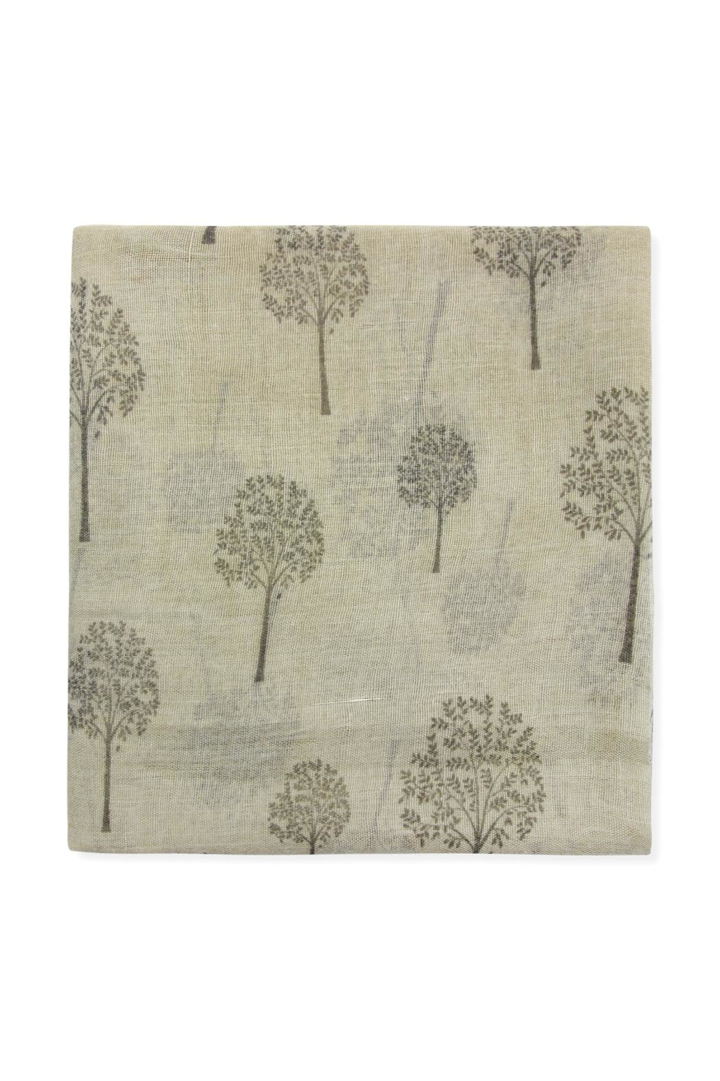 Riah Fashion Small-Trees Printed Scarf - Front Full Image