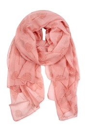 Riah Fashion Small-Trees Printed Scarf - Front cropped