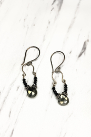 Alicia Van Fleteren Small U Pyrite/Black Spinal Silver Earring - Product Mini Image