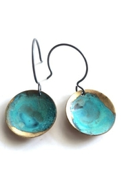 SSD Small Verdigris Domed Circle Earrings - Product Mini Image