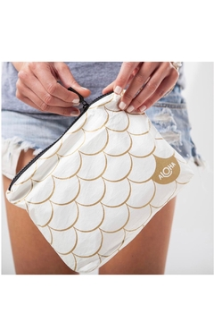 Shoptiques Product: Small White Mermaid Pouch in Gold