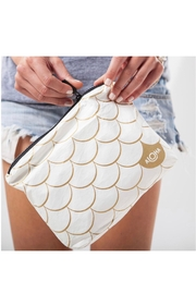 Aloha Collection Small White Mermaid Pouch in Gold - Product Mini Image