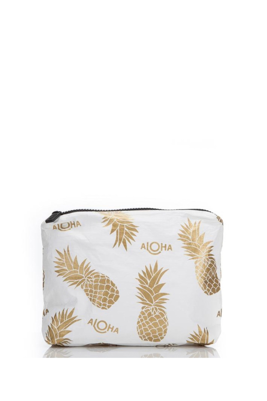 Aloha Collection Small White Pineapple Fields Pouch - Main Image