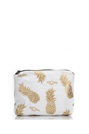 Aloha Collection Small White Pineapple Fields Pouch - Front cropped