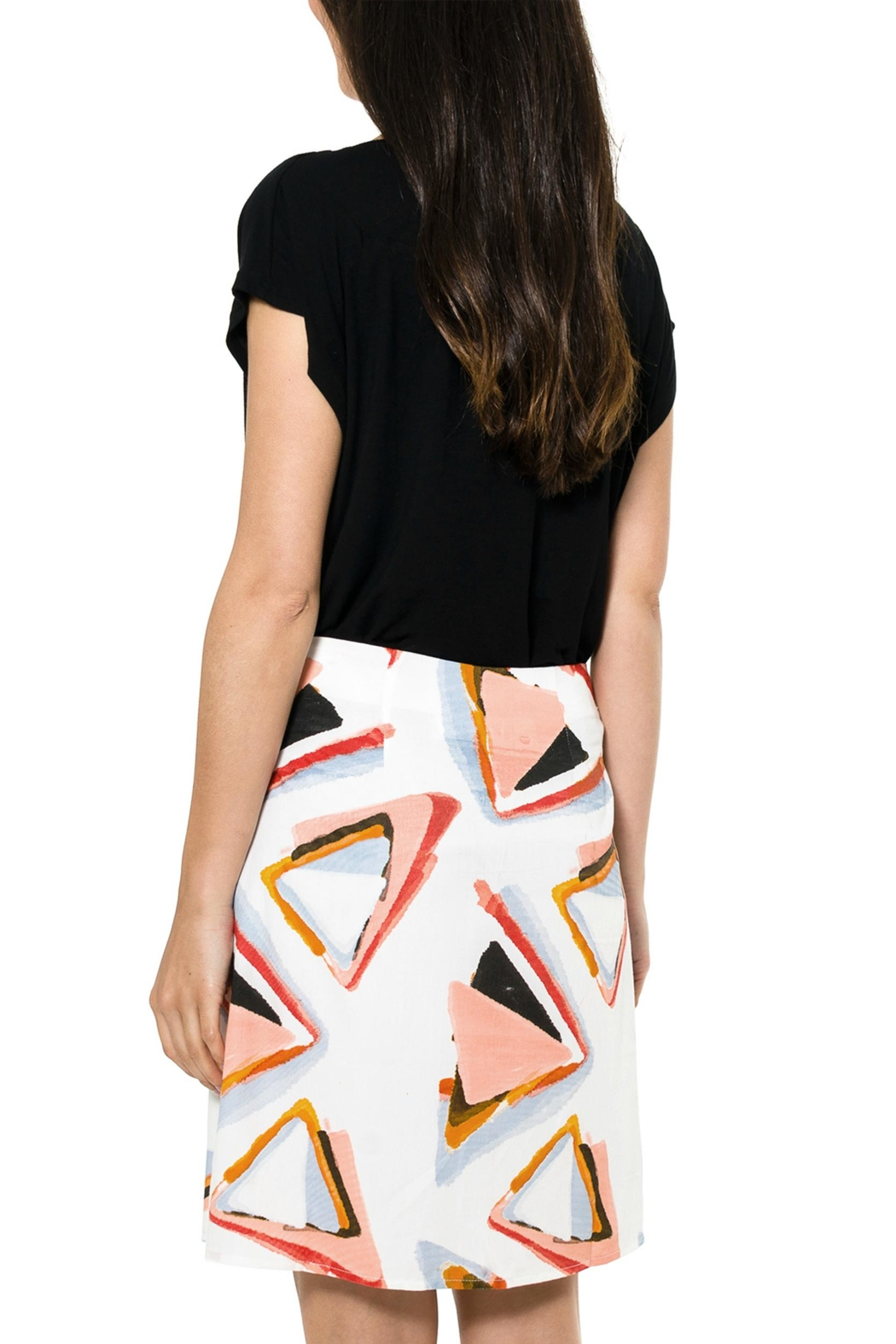 Smash  Abstract Pattern Skirt - Front Full Image