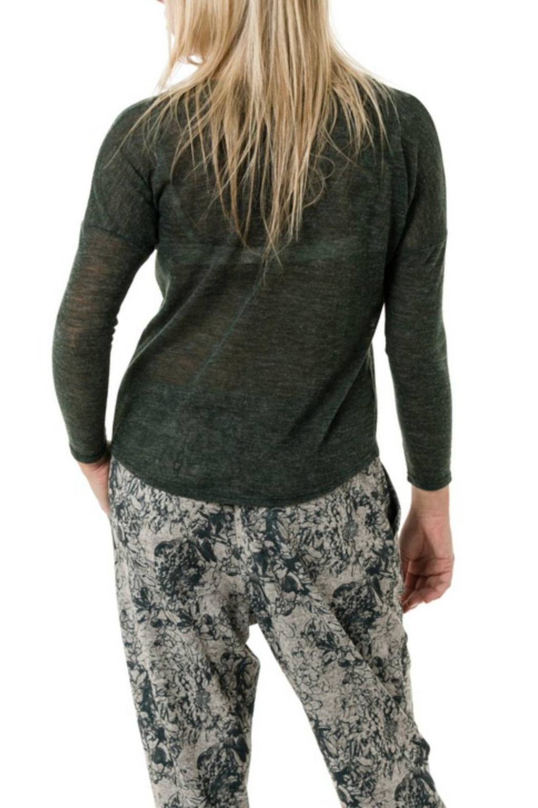 Smash  Mock Knot Sweater - Side Cropped Image